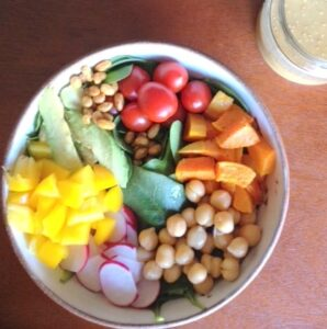 Power Lunch Bowl with Miso Sesame Dressing