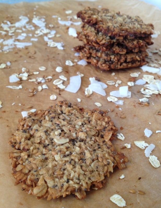 Oats and Flax Crisps | Healthy Nibbles & Bits