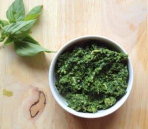 Skinny Kale Basil Pesto