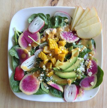 Colorful Spring Salad with Radishes & Beets