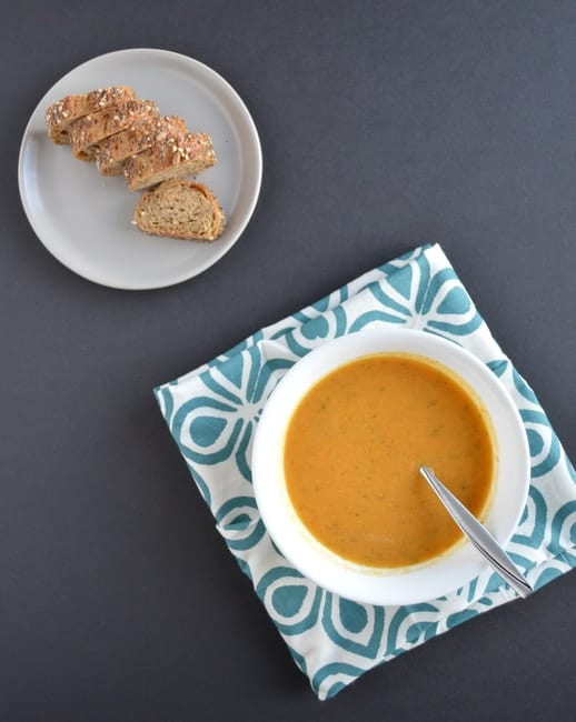 Carrot Sweet Potato Soup | Healthy Nibbles and Bits