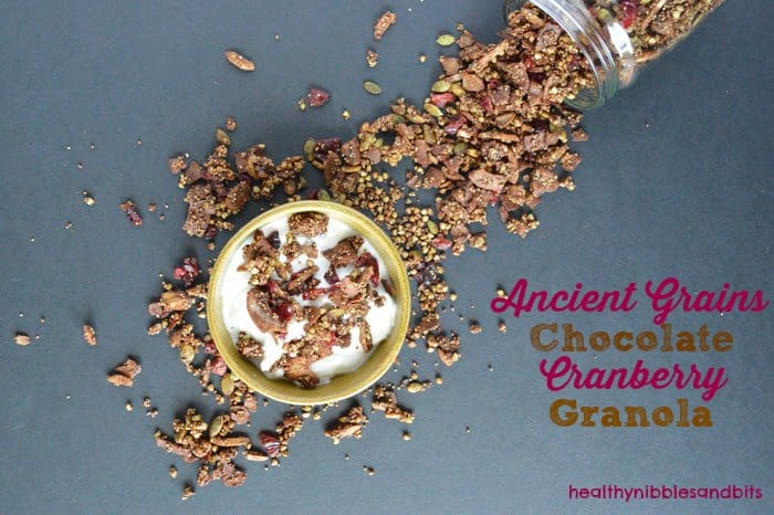 Chocolate Cranberry Granola | Healthy Nibbles and Bits