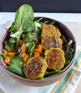 Curry Basil Falafel | Healthy Nibbles and Bits