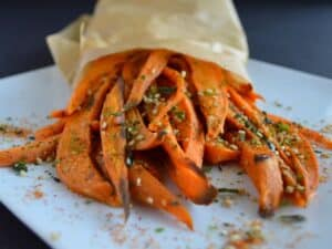 Japanese Spiced Sweet Potato Fries | Healthy Nibbles and Bits