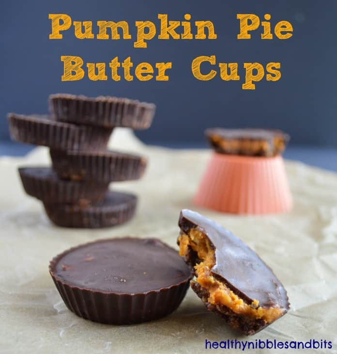 Pumpkin Pie Butter Cups | Healthy Nibbles and Bits
