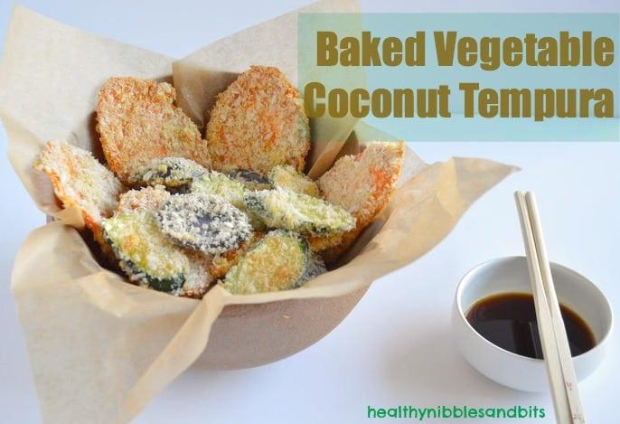 Vegetable Coconut Tempura | Healthy Nibbles & Bits