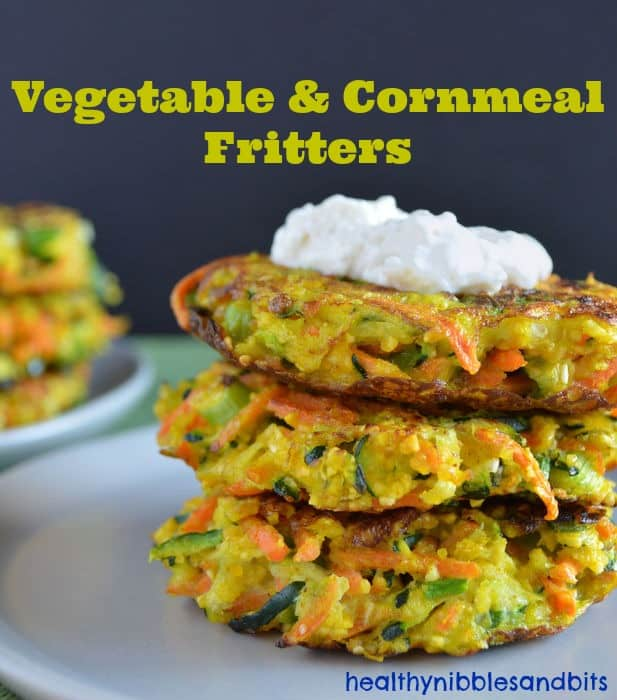 Vegetable and Cornmeal Fritters | Healthy Nibbles and Bits
