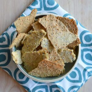 Herbed Multi-Seed Chickpea Crackers | Healthy Nibbles and Bits