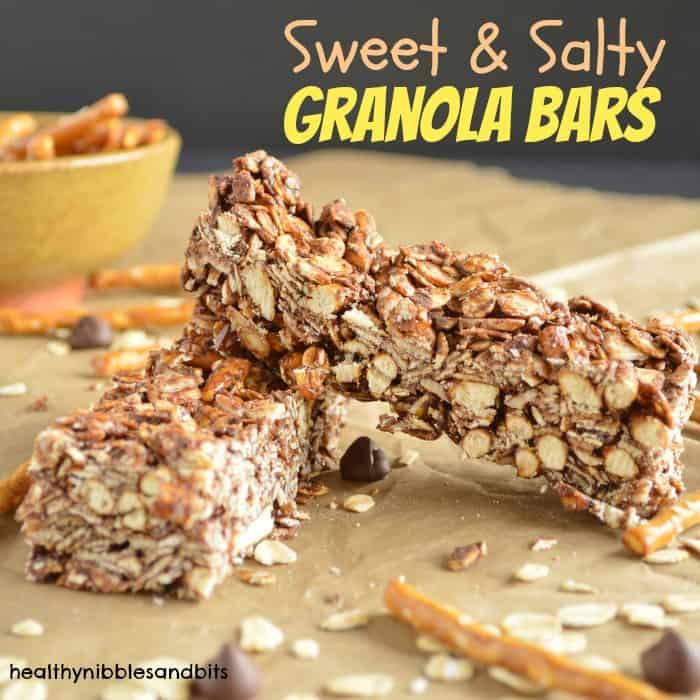Sweet and Salty Granola Bars - Healthy Nibbles & Bits