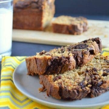 Gluten-Free Banana Bread with Chocolate Swirl