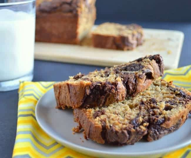 gluten free banana bread with chocolate