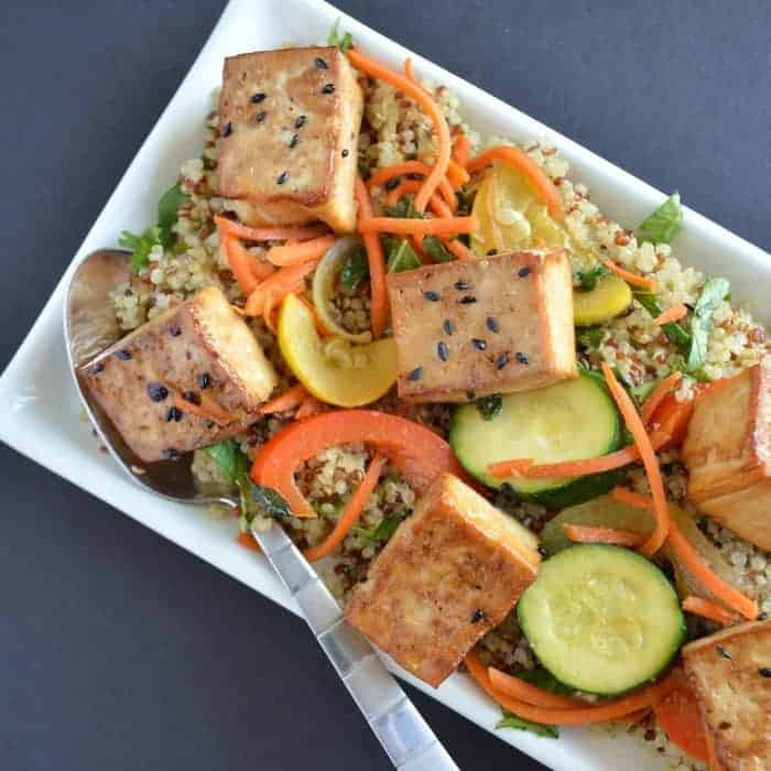Coconut Quinoa Tamari Tofu and Vegetables