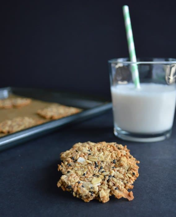 Oats & Flax Seed Crisps | Healthy Nibbles and Bits