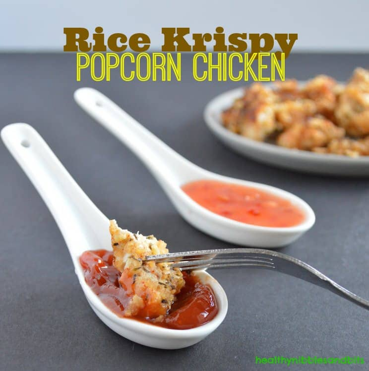 Rice Krispy Popcorn Chicken | Healthy Nibbles and Bits