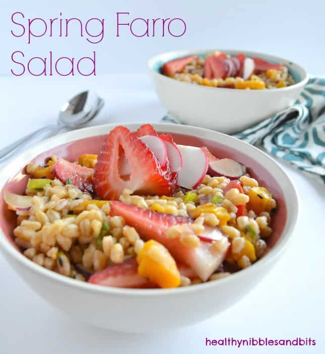 Spring Farro Salad | Healthy Nibbles and Bits