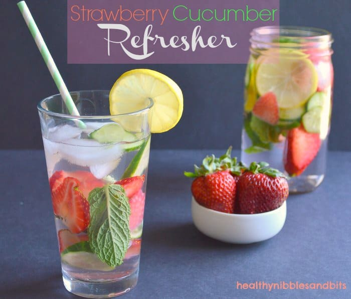 Strawberry Cucumber Refresher | Healthy Nibbles and Bits