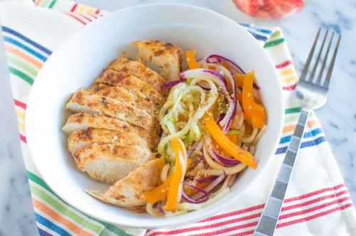 Baked Chicken Cucumber Salad | Healthy Nibbles and Bits
