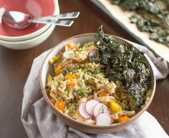 Chicken Kale Rice Bowl - Healthy Nibbles & Bits