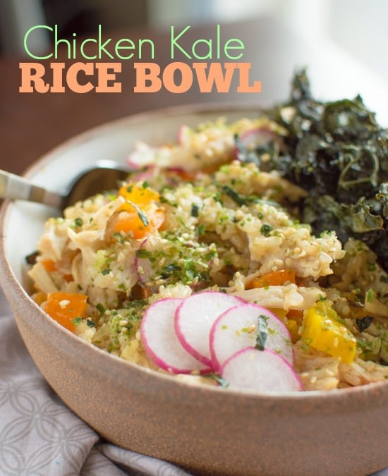 chicken kale rice bowl