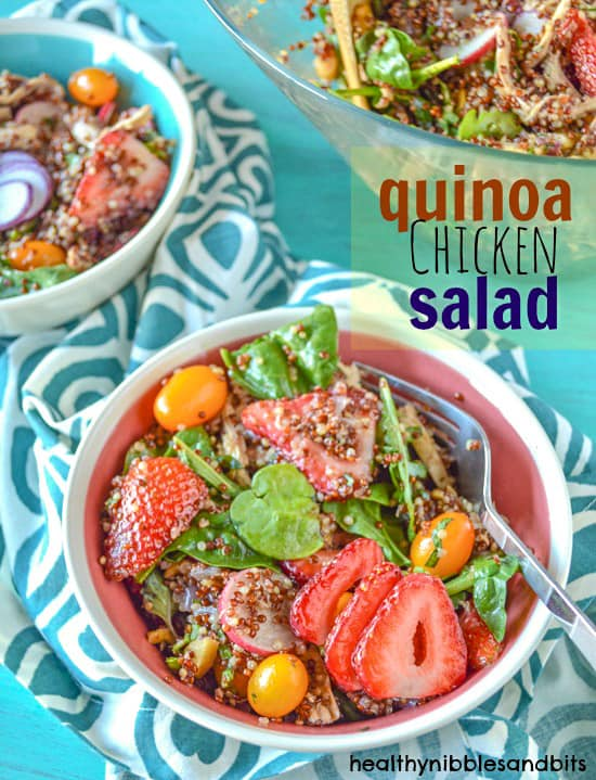 Chicken Quinoa Salad | Healthy Nibbles and Bits