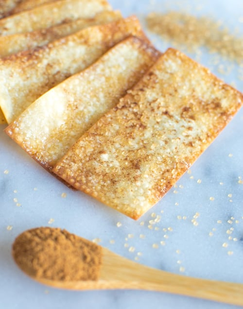 Cinnamon Sugar Crisps | Healthy Nibbles and Bits