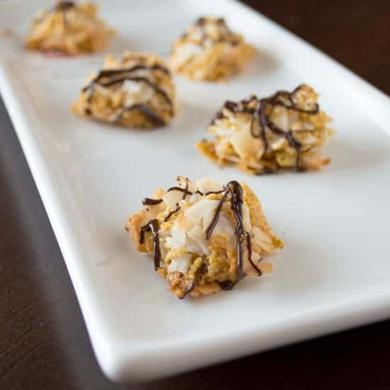 Coconut Chex Macaroons | Healthy Nibbles and Bits