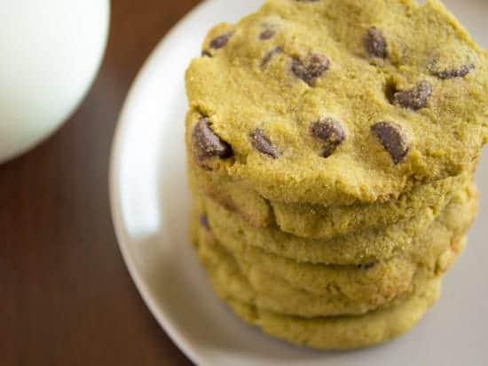 Green Tea Chocolate Chip Cookies