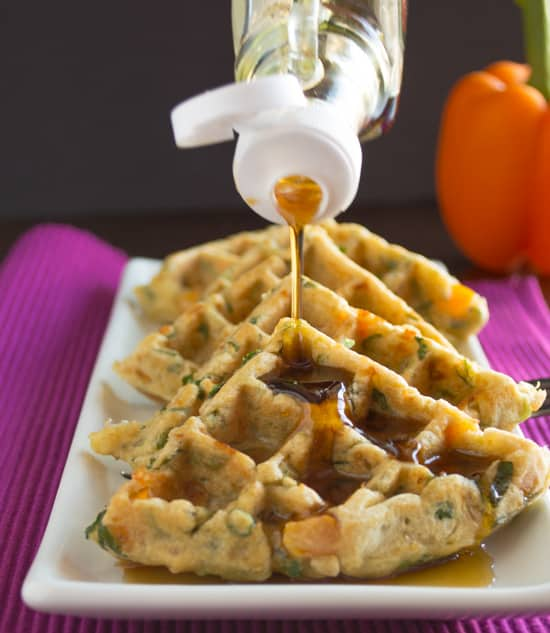 Savory Vegetable Waffles | Healthy Nibbles and Bits