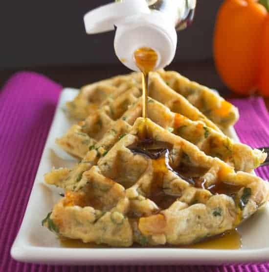 Savory Vegetable Waffles
