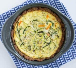 Zucchini Noodle Quiche with Almond-Flax Crust