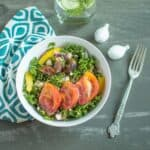 Kale Fig Tomato Salad | Healthy Nibbles and Bits