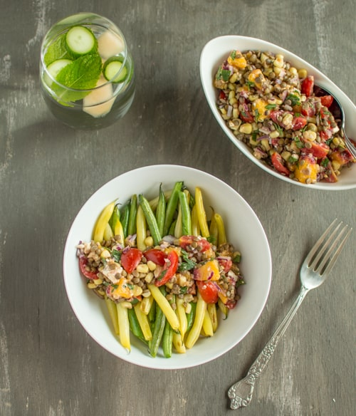 Lentil Salad and Sauteed Beans | Healthy Nibbles and Bits