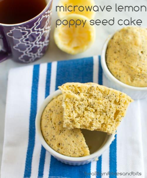 Microwave Lemon Poppy Seed Cake