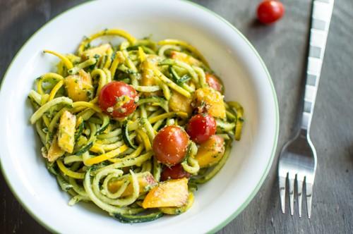Summer Pesto Noodle Salad   Healthy Nibbles and Bits