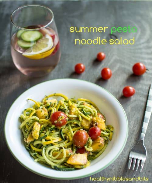 Summer Pesto Noodle Salad | Healthy Nibbles and Bits