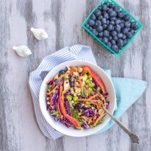 Rainbow Salad with Peanut Vinaigrette