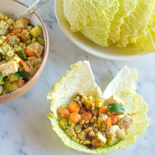 Vegan Asian Cabbage Wraps | Healthy Nibbles and Bits