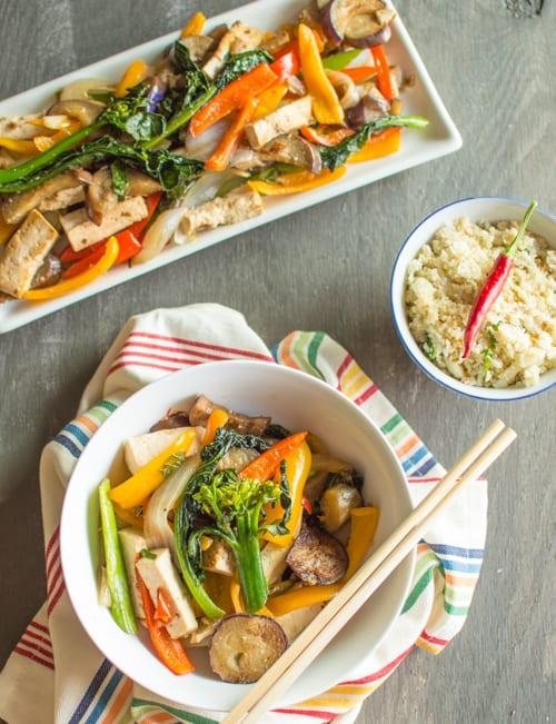 Chili Eggplant Tofu Stir Fry