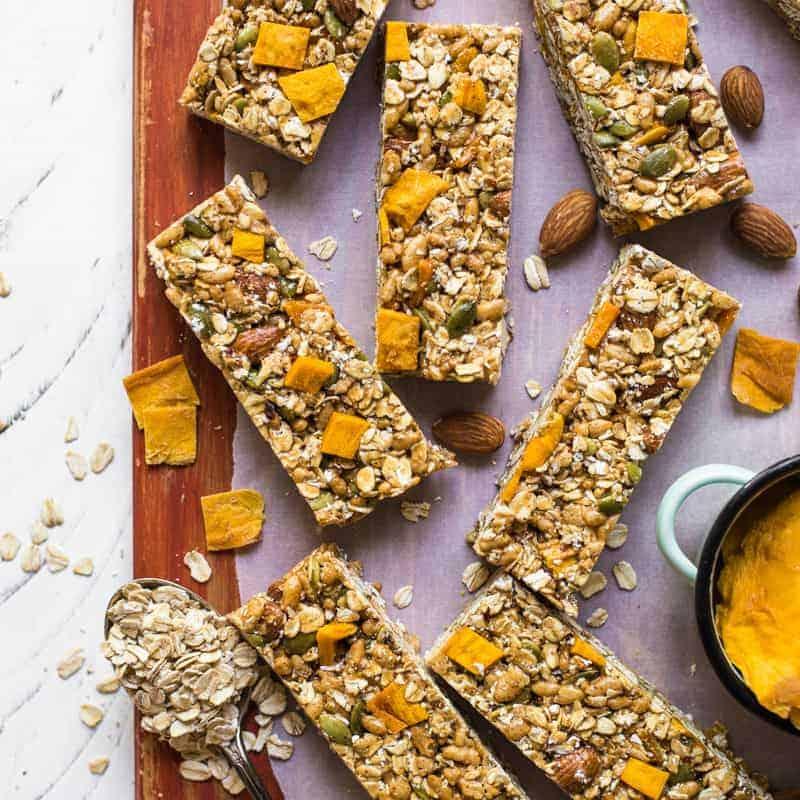 chili mango snack bars healthy nibbles
