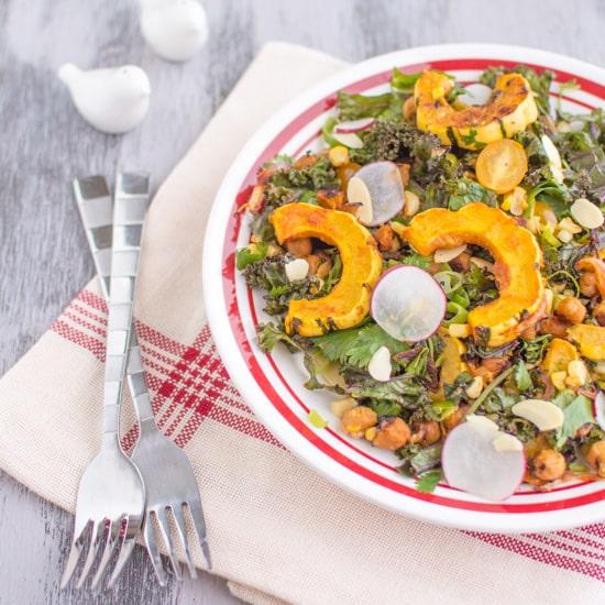 Miso Curry Kale Delicata Salad 4