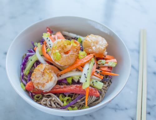 Shrimp + Pickled Vegetables Soba Bowl