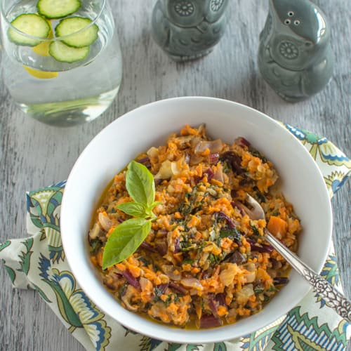Sweet Potato Kohlrabi Risotto