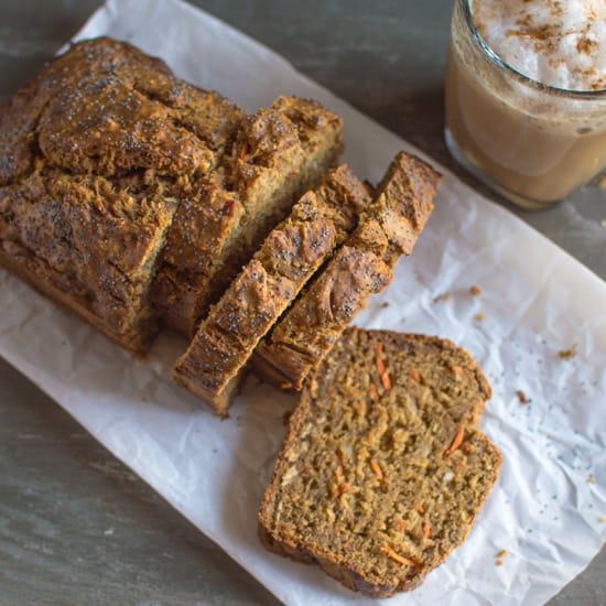 Banana Carrot Bread with Coconut | healthynibblesandbits.com