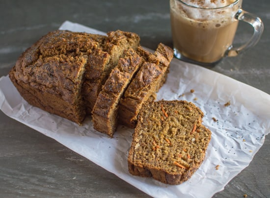 Banana Carrot Bread with Coconut | healthynibblesandbits.com