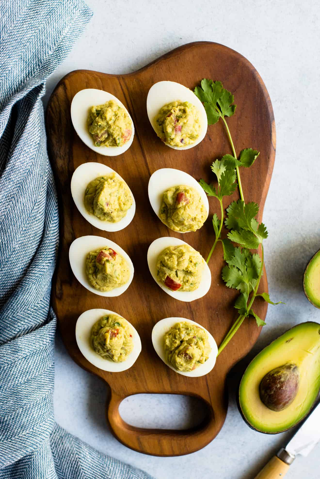 Guacamole Deviled Eggs - easy, healthy paleo snack and appetizer!