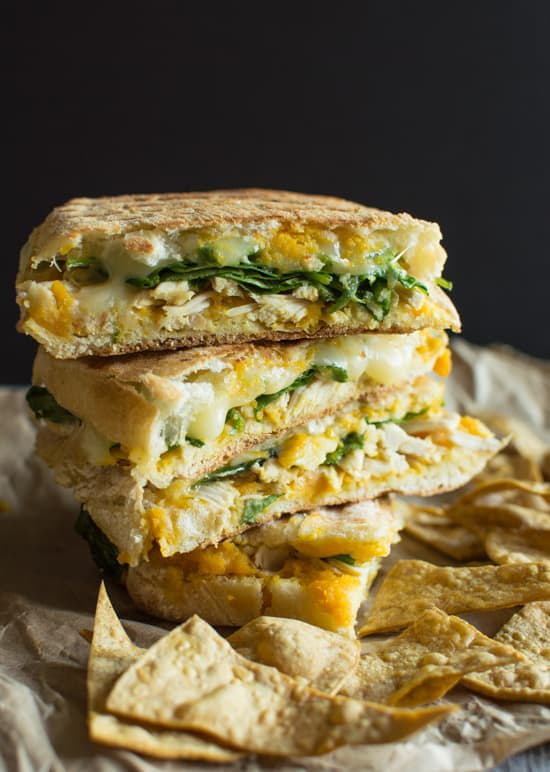 Chicken Panini with Butternut Squash   healthynibblesandbits.com