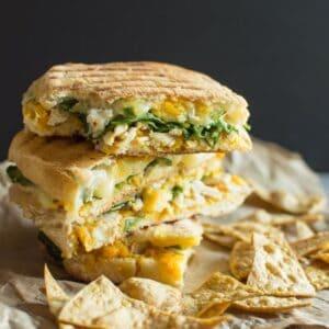 Chicken Panini with Butternut Squash | healthynibblesandbits.com