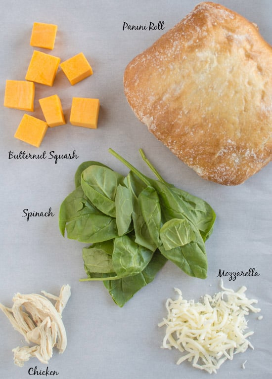 Chicken Panini with Butternut Squash Ingredients | healthynibblesandbits.com