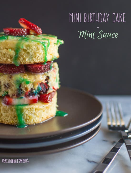 Mini Birthday Cake With Mint Sauce Healthy Nibbles