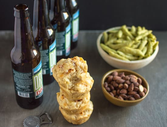 Pepper Jack Beer Bread Muffins | healthynibblesandbits.com